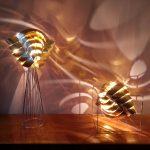 Auriga lampadaire lampe cube cuivre