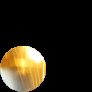 Shiny gold finish