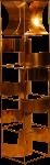 Lampadaire Copernic cuivre