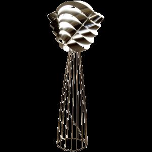 Auriga silberne Stehlampe