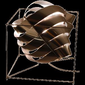 Auriga lampe cube argent