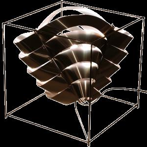 Auriga Würfellampe aus Edelstahl