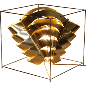 Auriga Cube Gold Lamp