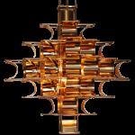 Cassiopée suspension cuivre