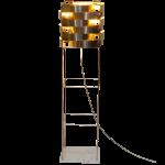 Sirius lampadaire argent socle en marbre de Carrare